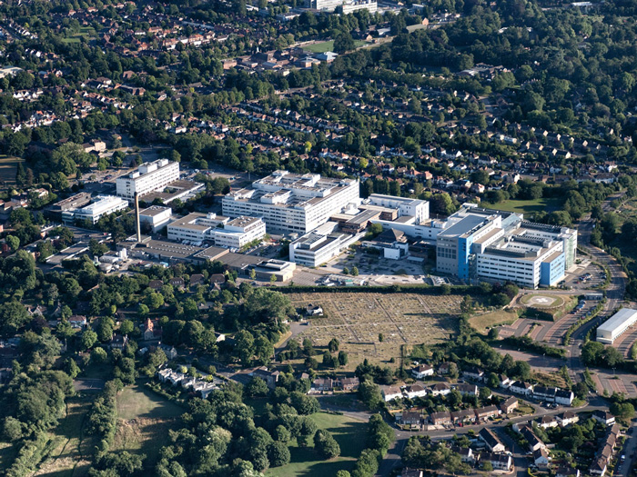 Aerial Photography of John Radcliffe Hospital, Oxford