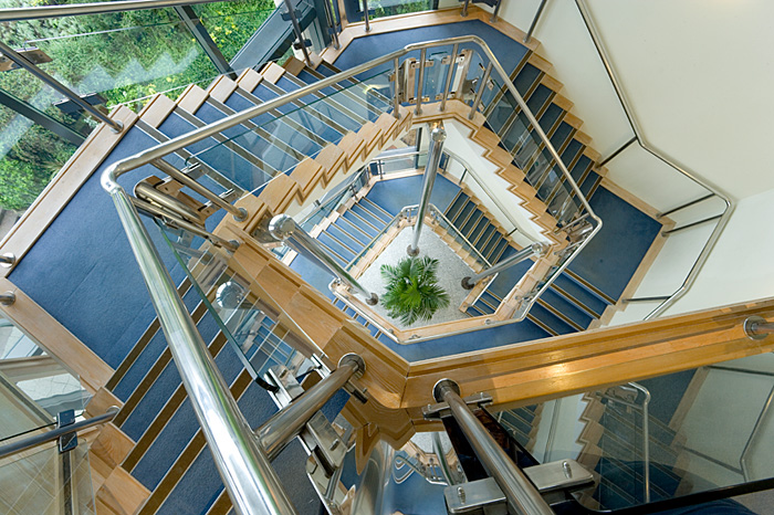 Interior architecture, stair well